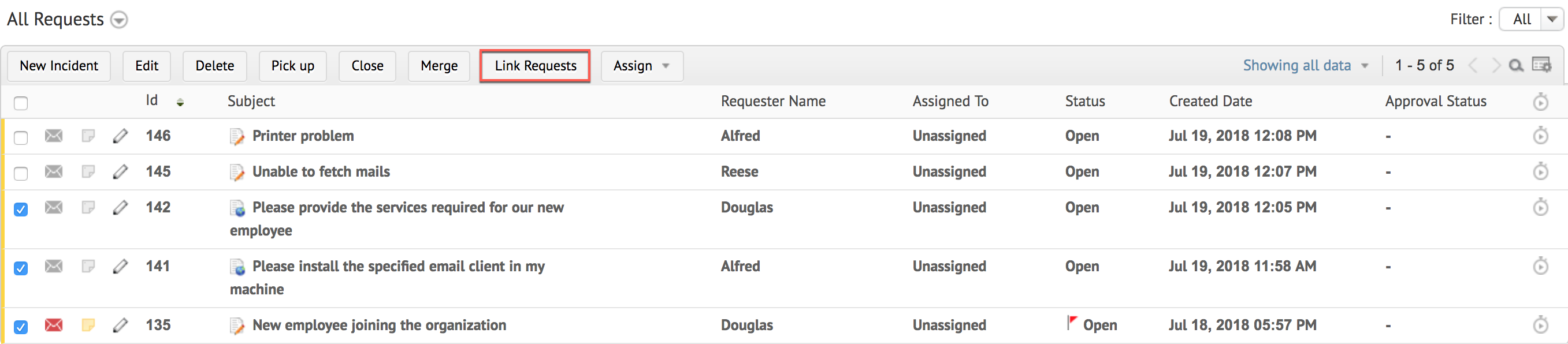 Link request: Create new notes and resolution in your helpdesk