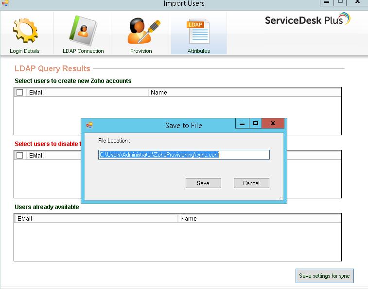 Configure scheduled sync in task scheduler - ServiceDesk